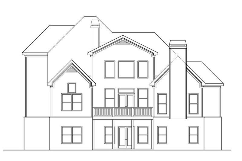 Dream House Plan - Craftsman Exterior - Rear Elevation Plan #419-259