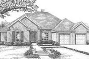 European Style House Plan - 4 Beds 2.5 Baths 2400 Sq/Ft Plan #310-367 Exterior - Front Elevation