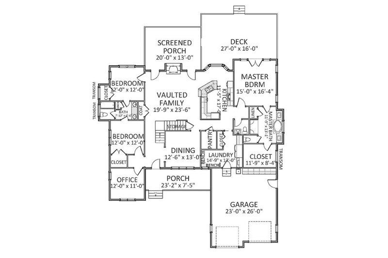 Traditional Floor Plan - Main Floor Plan Plan #898-19