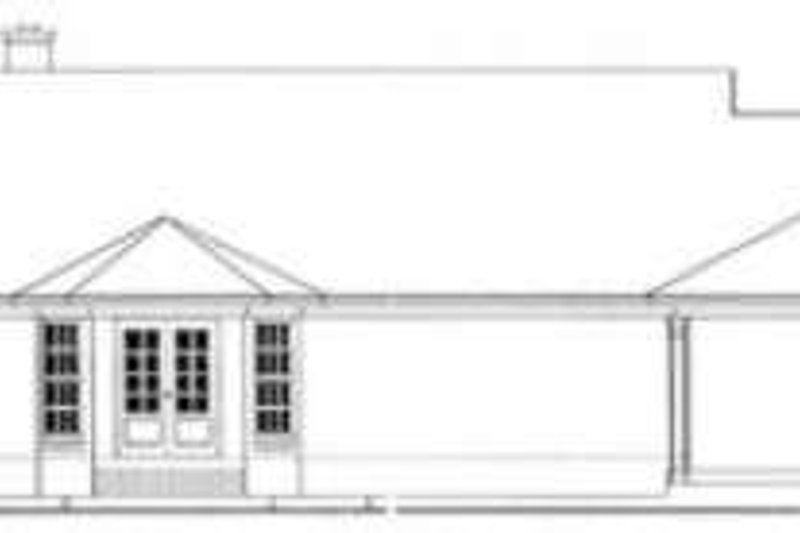 Ranch Exterior - Rear Elevation Plan #406-232 - Houseplans.com