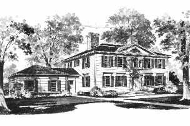 House Blueprint - Colonial Exterior - Front Elevation Plan #72-354