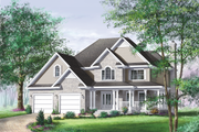 Farmhouse Style House Plan - 3 Beds 2.5 Baths 2462 Sq/Ft Plan #25-2195 Exterior - Front Elevation