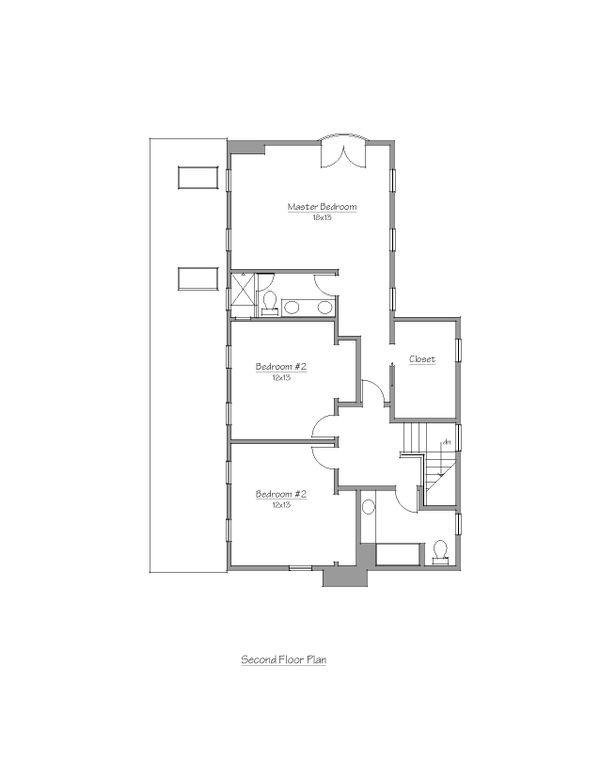 Cottage Floor Plan - Upper Floor Plan Plan #481-10