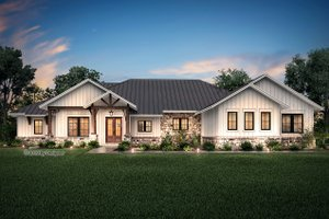 House Blueprint - Ranch Exterior - Front Elevation Plan #430-190
