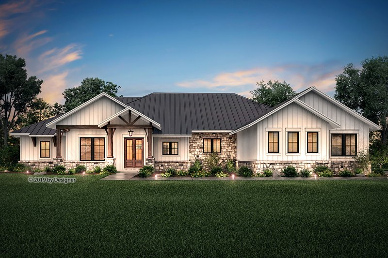 Ranch Style House Plan - 4 Beds 3.5 Baths 3366 Sq/Ft Plan #430-190