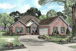 Traditional Exterior - Front Elevation Plan #17-2211