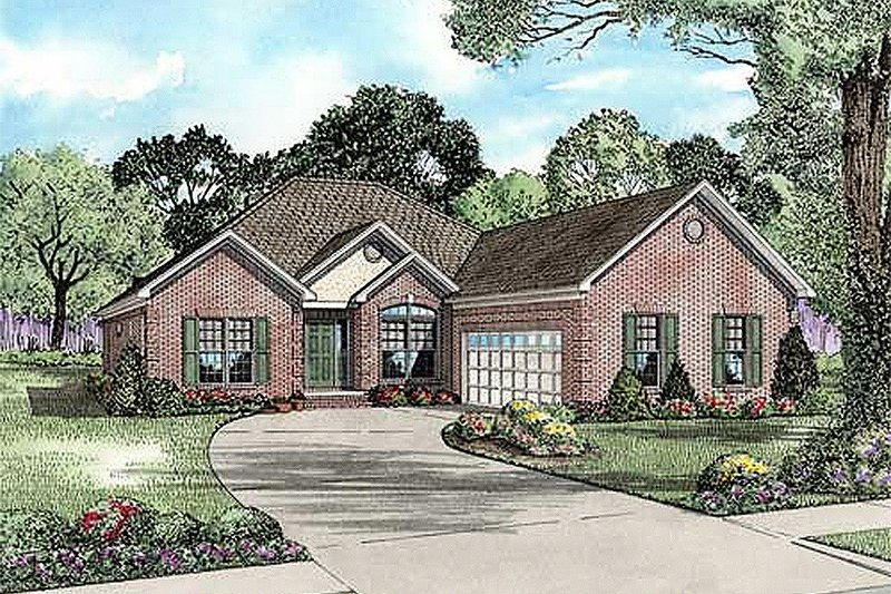 Home Plan - Traditional Exterior - Front Elevation Plan #17-2211