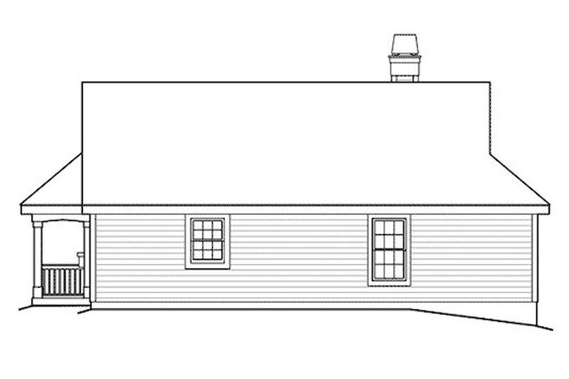 Country Exterior - Rear Elevation Plan #57-338 - Houseplans.com