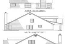 House Plan Design - Southern Exterior - Rear Elevation Plan #17-257