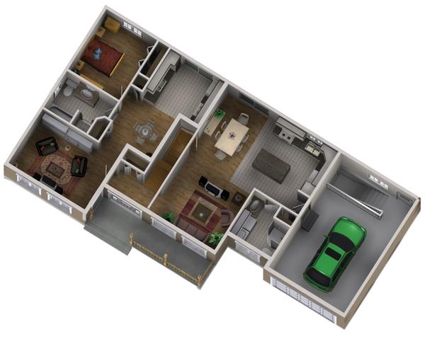 Country Floor Plan - Main Floor Plan #25-4559
