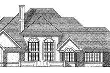 Colonial Exterior - Rear Elevation Plan #70-519