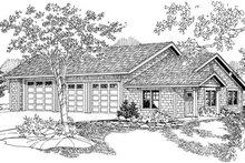 Craftsman Exterior - Front Elevation Plan #124-796