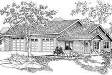 Dream House Plan - Craftsman Exterior - Front Elevation Plan #124-796
