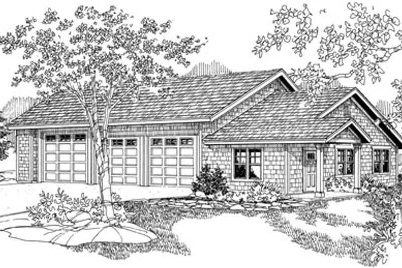 Craftsman Exterior - Front Elevation Plan #124-796 - Houseplans.com