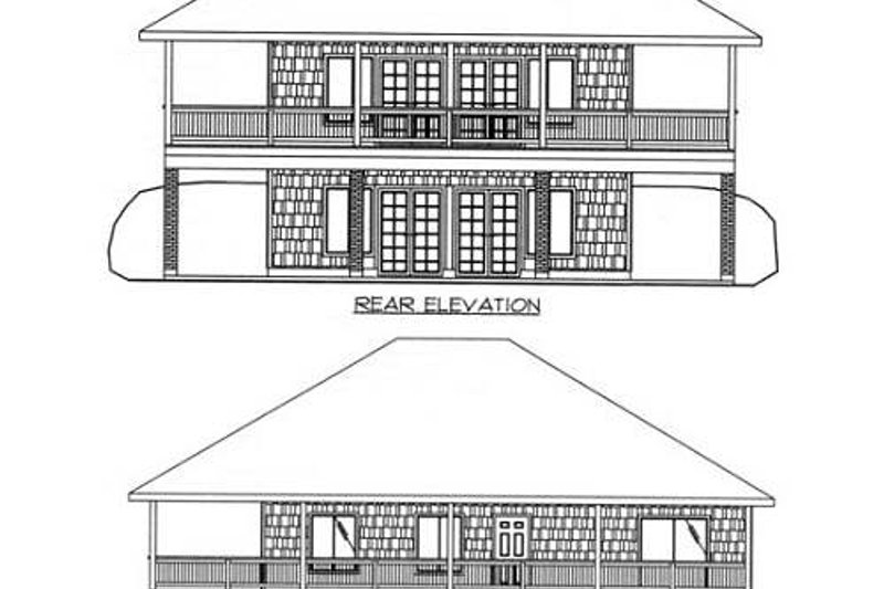 Traditional Exterior - Rear Elevation Plan #117-245 - Houseplans.com
