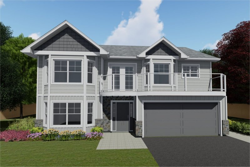 Home Plan - Adobe / Southwestern Exterior - Front Elevation Plan #126-104