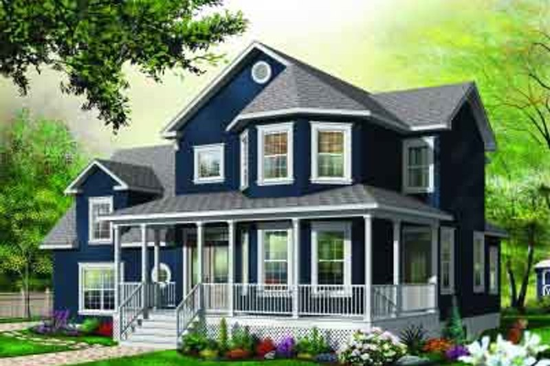 Dream House Plan - Traditional Exterior - Front Elevation Plan #23-591