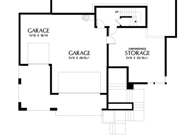 Contemporary Floor Plan - Lower Floor Plan Plan #48-979