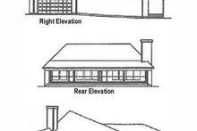 Home Plan - Ranch Exterior - Rear Elevation Plan #60-622