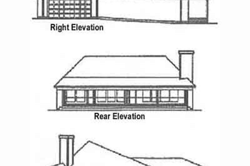 Ranch Exterior - Rear Elevation Plan #60-622 - Houseplans.com