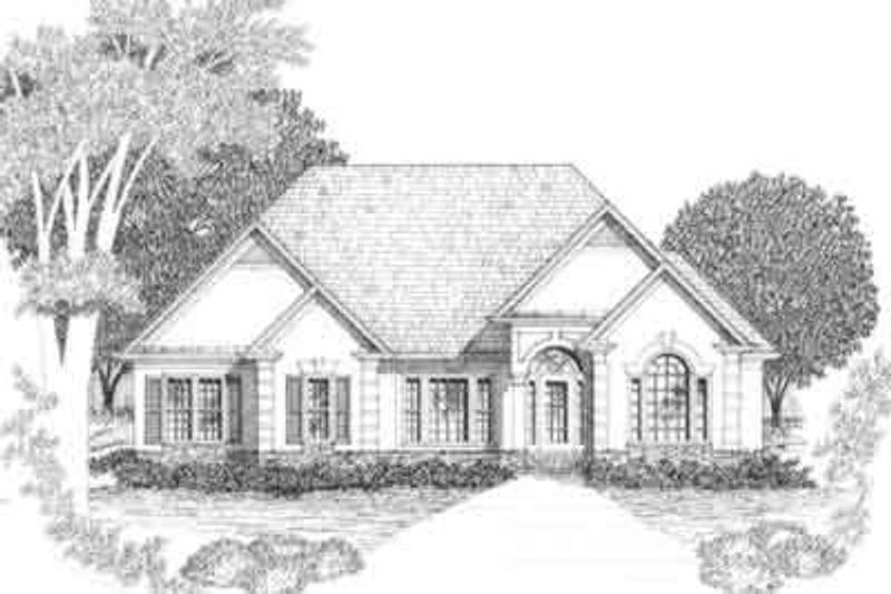 European Style House Plan - 3 Beds 2.5 Baths 2086 Sq/Ft Plan #129-136 Exterior - Front Elevation