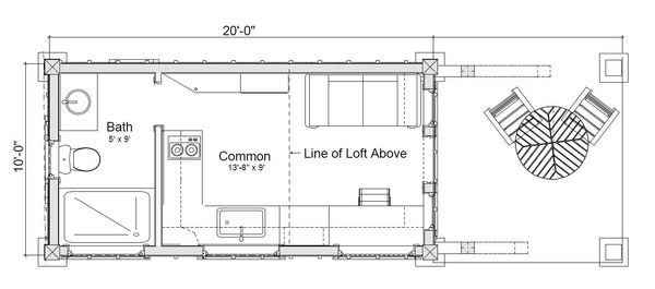 Home Plan - Modern Floor Plan - Main Floor Plan #451-23