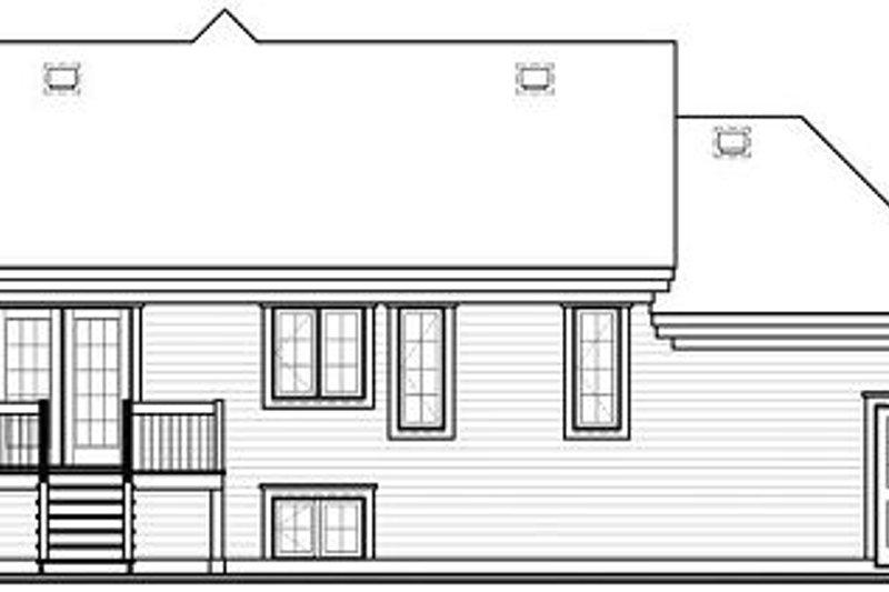 Exterior - Rear Elevation Plan #23-710 - Houseplans.com