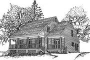 Country Style House Plan - 3 Beds 2.5 Baths 2259 Sq/Ft Plan #37-176 Exterior - Front Elevation