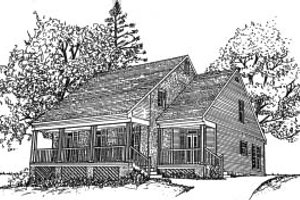 Country Exterior - Front Elevation Plan #37-176