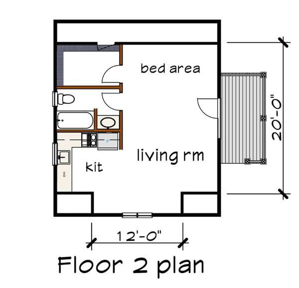 Southern Floor Plan - Upper Floor Plan Plan #79-252
