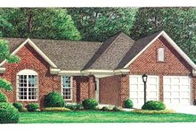 House Plan Design - Traditional Exterior - Front Elevation Plan #34-124
