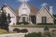 European Style House Plan - 3 Beds 2.5 Baths 2613 Sq/Ft Plan #52-145 Exterior - Front Elevation
