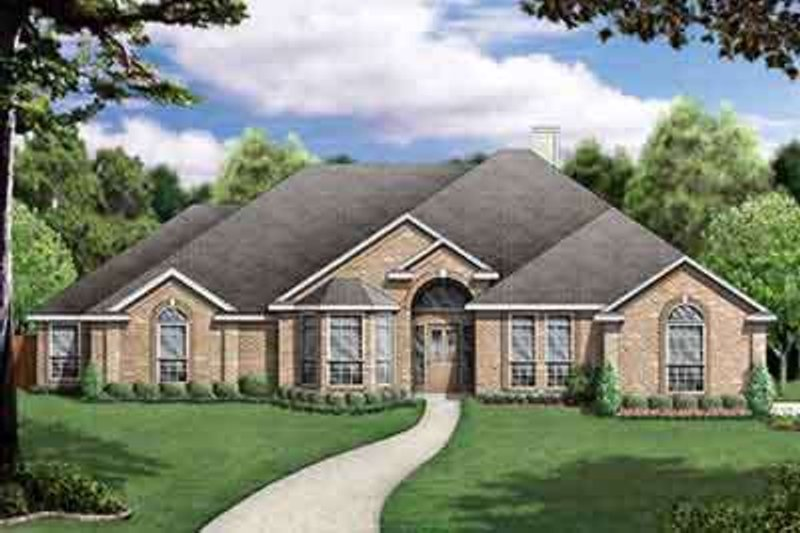 Traditional Exterior - Front Elevation Plan #84-238 - Houseplans.com