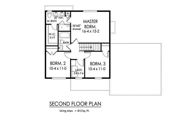 Traditional Floor Plan - Upper Floor Plan Plan #1010-220