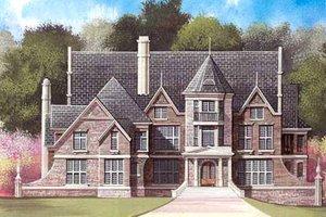Architectural House Design - European Exterior - Front Elevation Plan #119-201