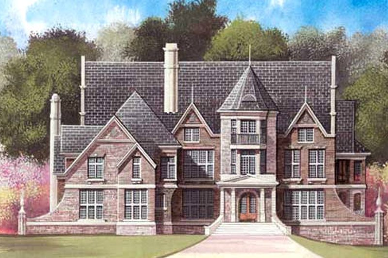 European Exterior - Front Elevation Plan #119-201 - Houseplans.com
