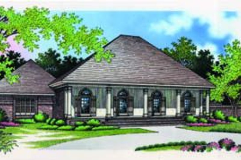 House Plan Design - European Exterior - Front Elevation Plan #45-204