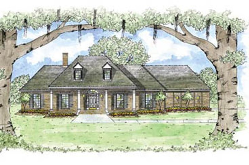 European Style House Plan - 3 Beds 2.5 Baths 2349 Sq/Ft Plan #36-208 Exterior - Front Elevation
