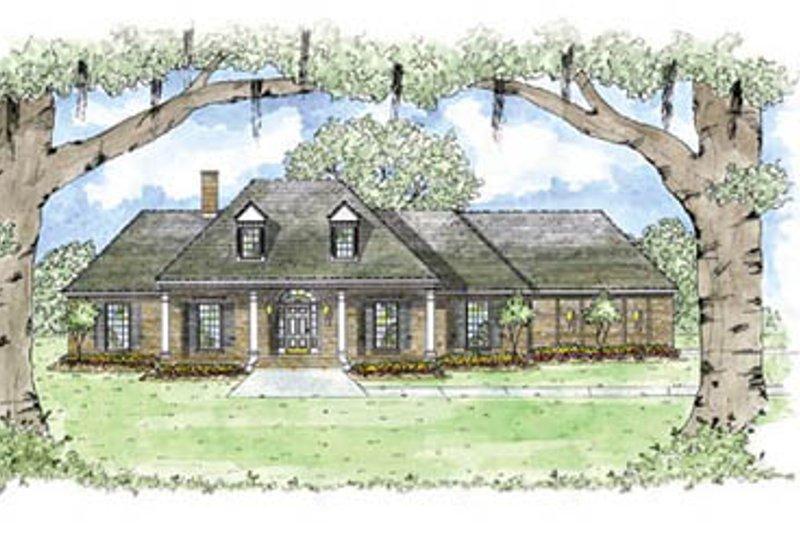 Architectural House Design - European Exterior - Front Elevation Plan #36-208