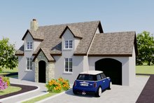 Home Plan - European Exterior - Front Elevation Plan #542-6
