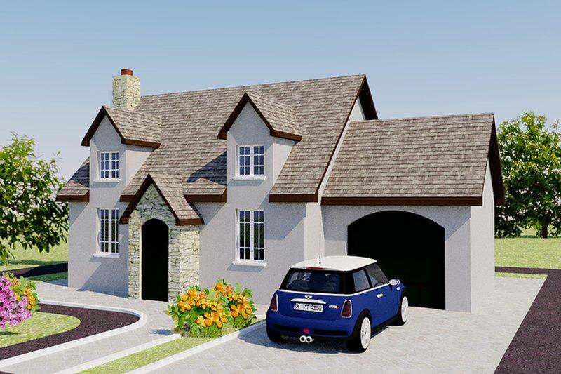 Dream House Plan - European Exterior - Front Elevation Plan #542-6