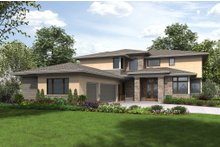 Dream House Plan - Contemporary Exterior - Front Elevation Plan #48-651