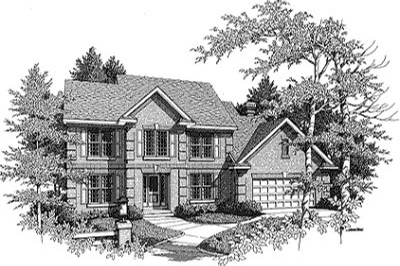 Traditional Exterior - Front Elevation Plan #70-441 - Houseplans.com