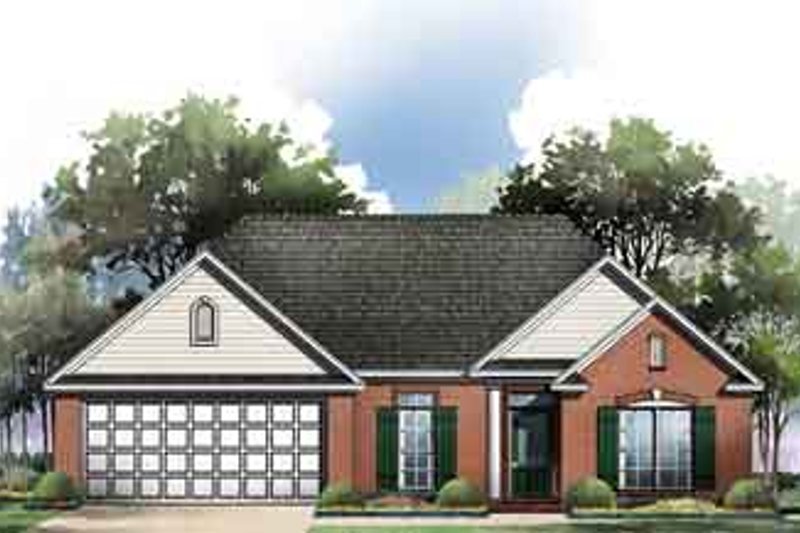 Traditional Exterior - Front Elevation Plan #21-161 - Houseplans.com