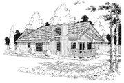 Farmhouse Style House Plan - 3 Beds 2 Baths 1583 Sq/Ft Plan #312-527 Exterior - Rear Elevation