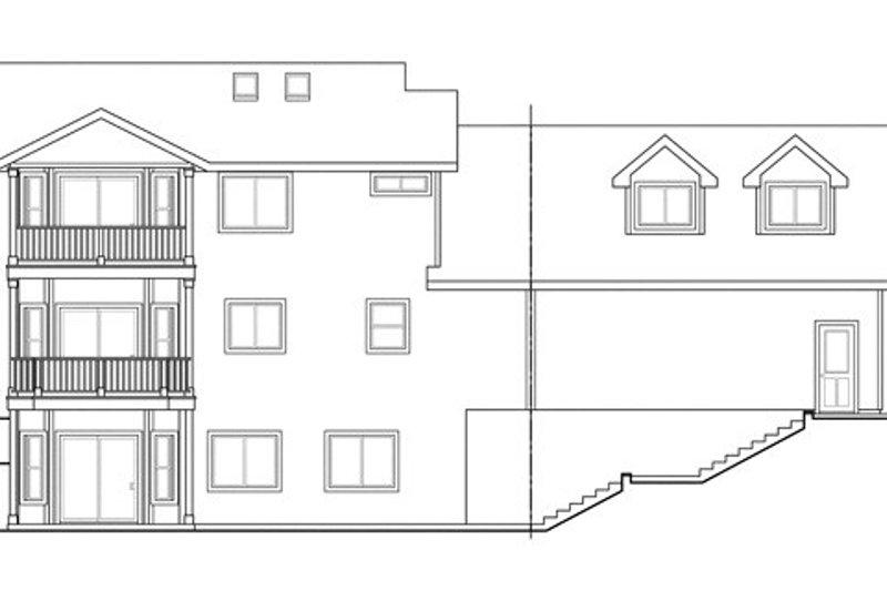 Colonial Exterior - Rear Elevation Plan #124-838 - Houseplans.com