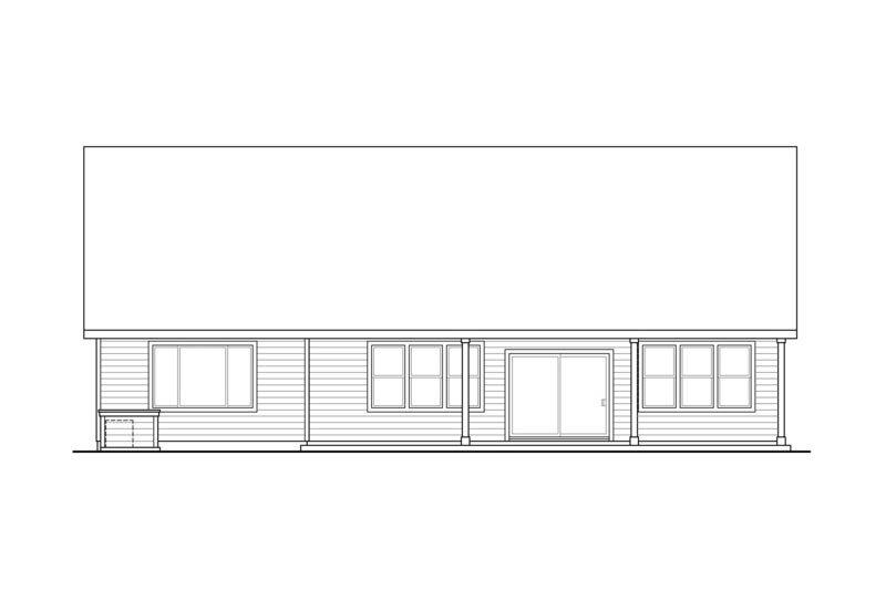 Craftsman Exterior - Rear Elevation Plan #124-867 - Houseplans.com