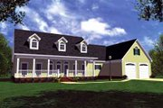 Southern Style House Plan - 3 Beds 3 Baths 2100 Sq/Ft Plan #21-177 Exterior - Front Elevation