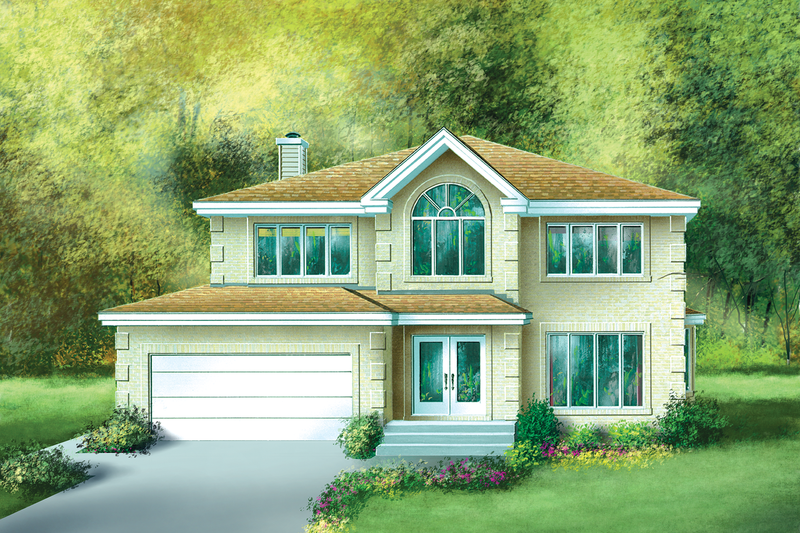 Traditional Style House Plan - 4 Beds 2.5 Baths 2699 Sq/Ft Plan #25-2151 Exterior - Front Elevation