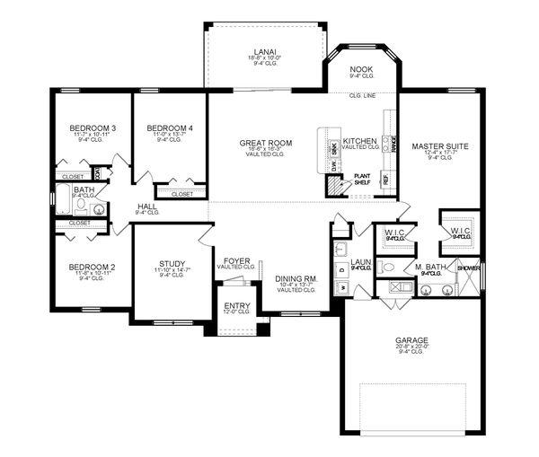 Dream House Plan - Ranch Floor Plan - Main Floor Plan #1058-190